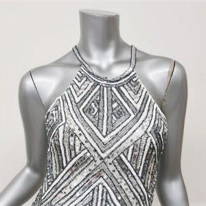 Parker Dresses - Parker Sequin Dress Jaden White/Silver
